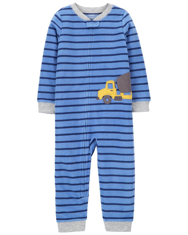 1-Piece Construction Fleece Footless PJs, , hi-res