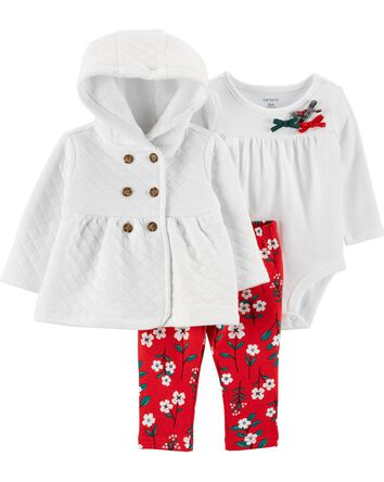 3-Piece Holiday Little Cardigan Set