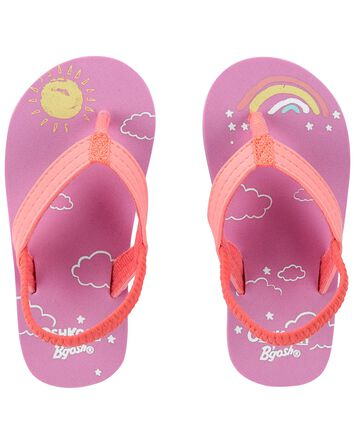 Sandales de plage avec soleils et a...