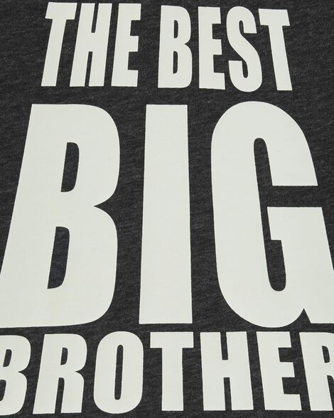 T-shirt en jersey chiné à slogan meilleur frère
