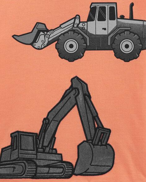 Construction Truck Snow Yarn Jersey Tee