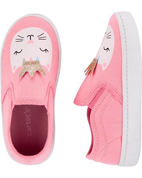 Glitter Cat Casual Sneakers