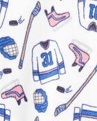 1-Piece Hockey Fleece Footless PJs, , hi-res