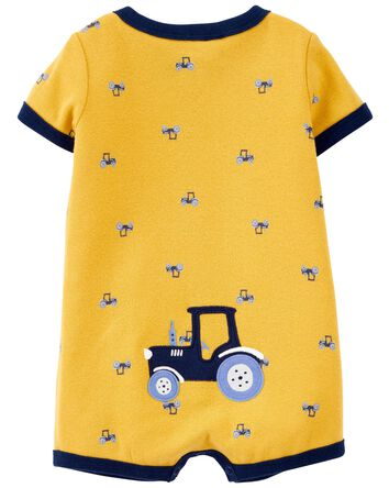 Tractor Snap-Front Romper