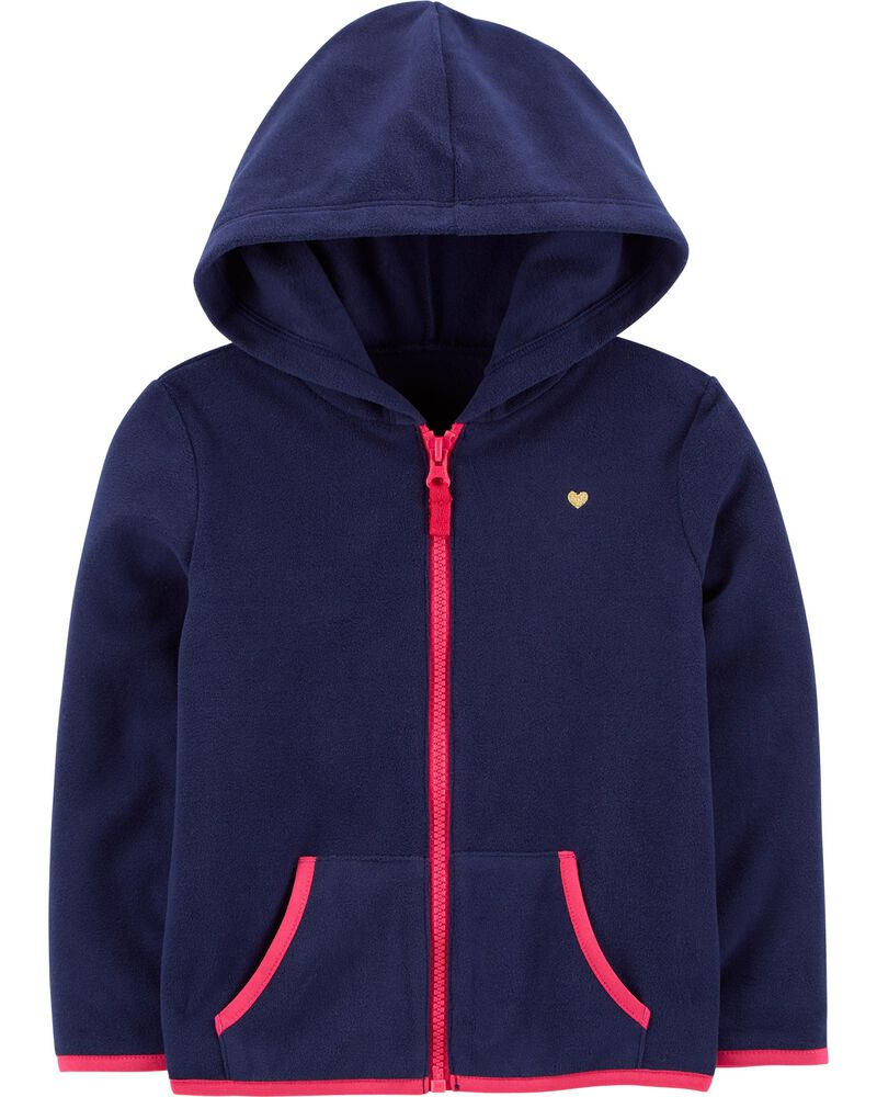Zip-Up Fleece Hoodie, , hi-res