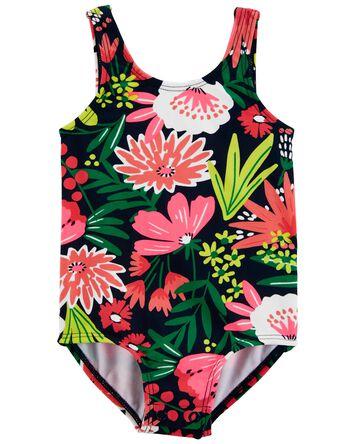 Floral 1-Piece Swimsuit