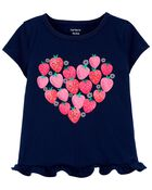Strawberry Heart Jersey Tee, , hi-res