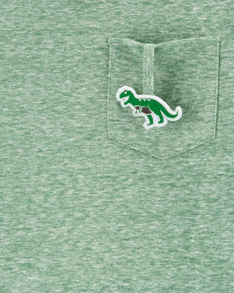 Interactive T-Rex Layered-Look Snow Yarn Tee