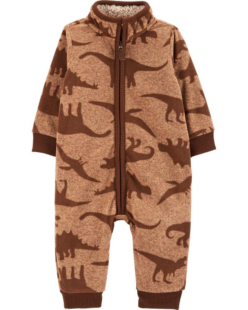 Dinosaur Fleece Jumpsuit, , hi-res