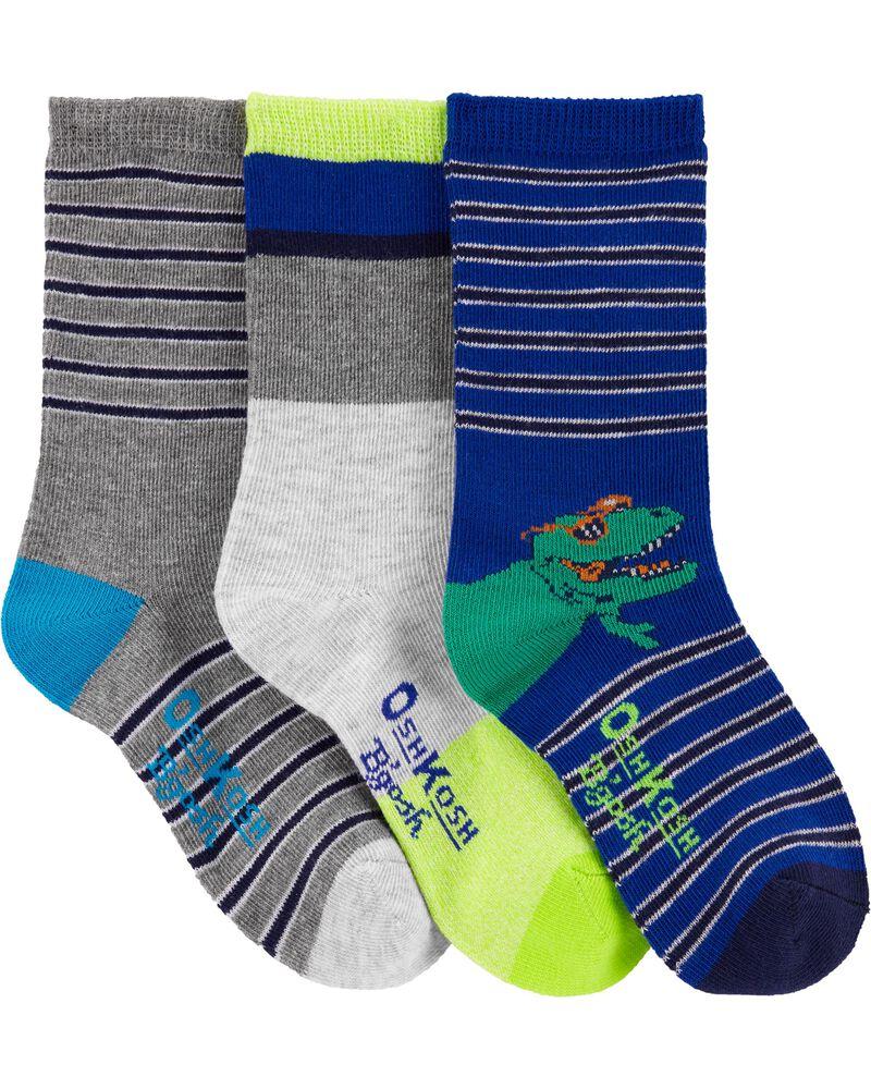 3-Pack Cool Creatures Crew Socks, , hi-res