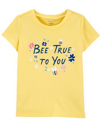 T-shirt en jersey à abeille