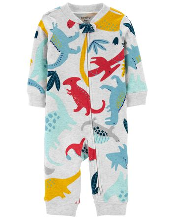Dinosaur Zip-Up Footless Sleep & Pl...