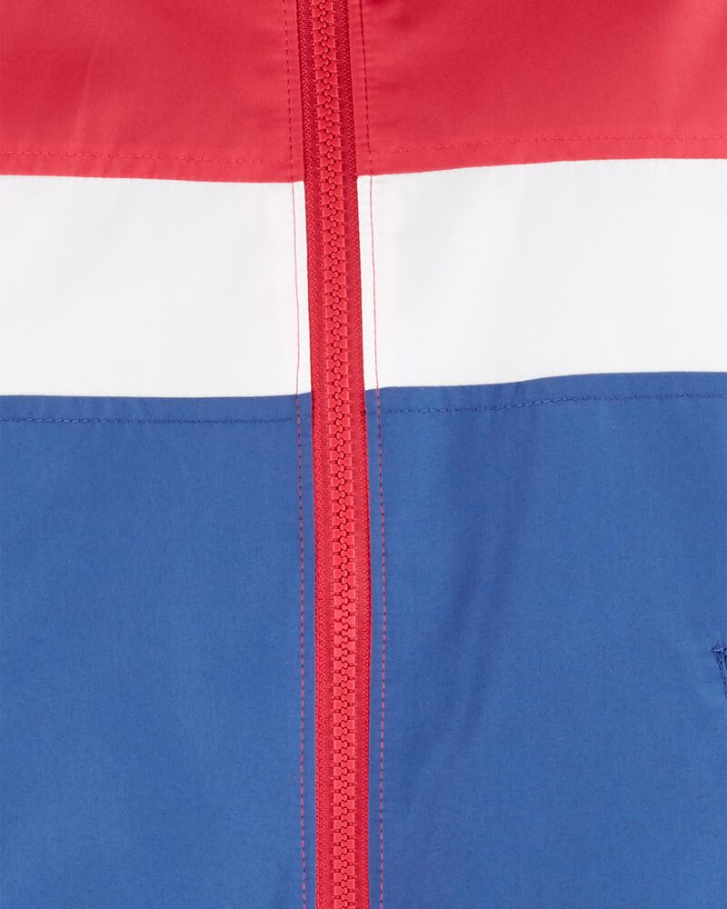 Colourblock Fleece-Lined Windbreaker, , hi-res