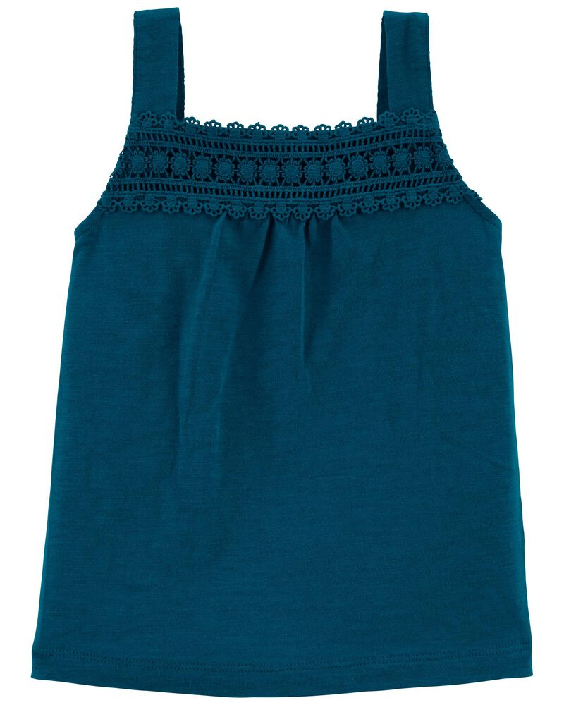 Crochet Slub Tank, , hi-res