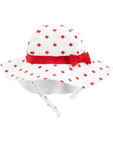 Chapeau de soleil feuille d'érable Fête du Canada