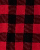 1-Piece Buffalo Check Fleece Footless PJs, , hi-res