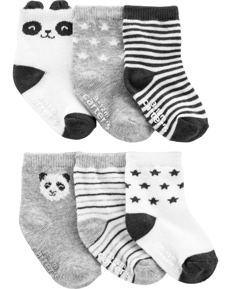 6 paires de chaussons à panda, , hi-res