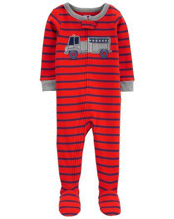 Pyjama 1 pièce à pieds ajusté à cam...