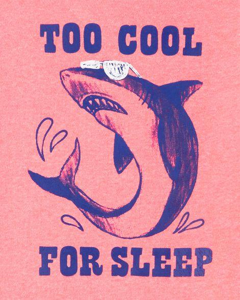 Pyjama 2 pièces en coton ajusté à requin
