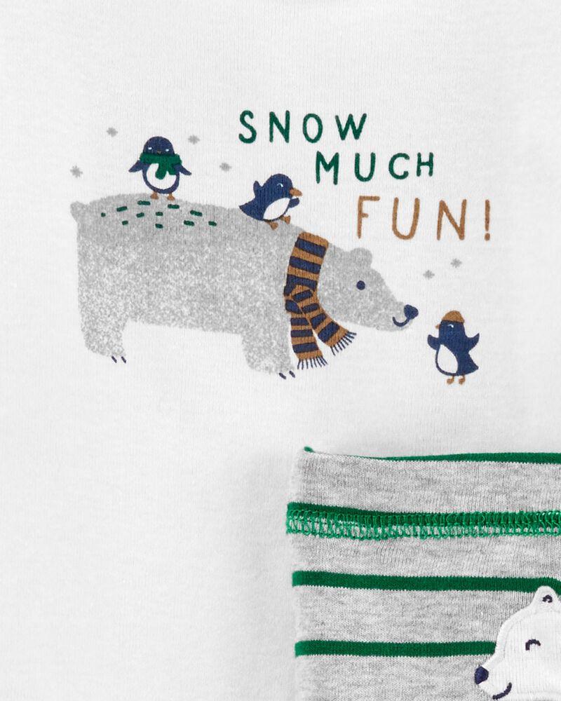 Ensemble Little Character 3 pièces à ours polaire, , hi-res