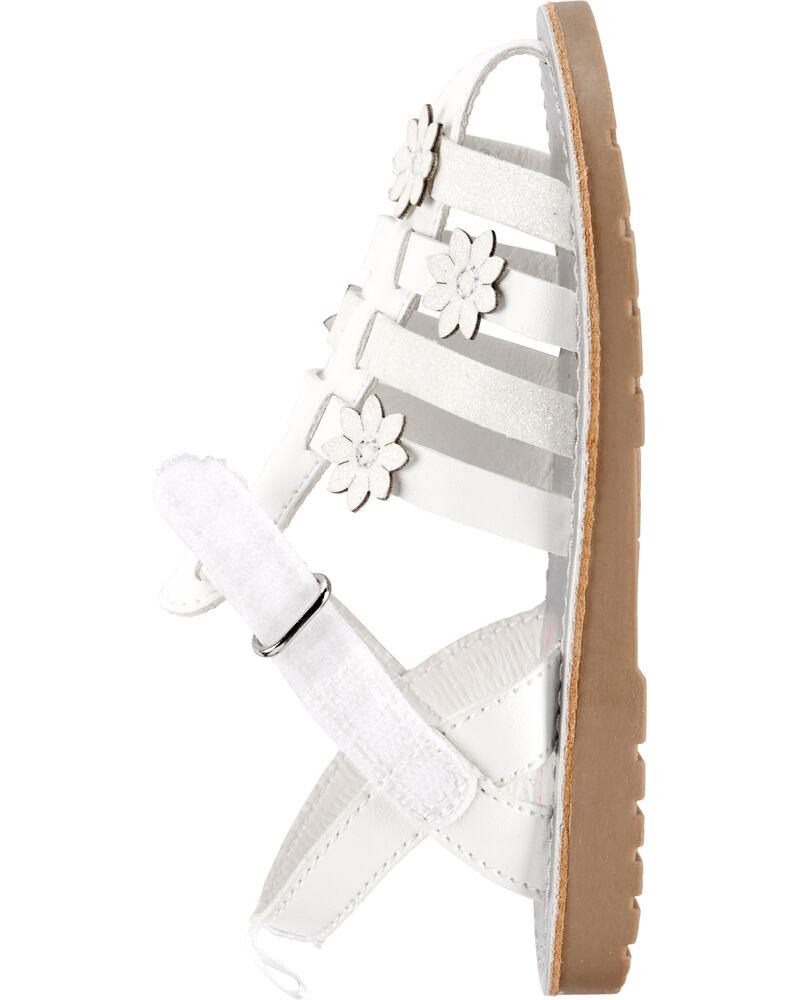 Sandales de style pêcheur à fleurs, , hi-res