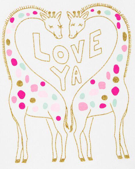 T-shirt en jersey girafe scintillante
