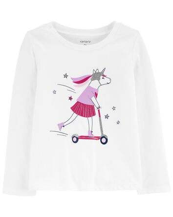 Unicorn Scooter Jersey Tee