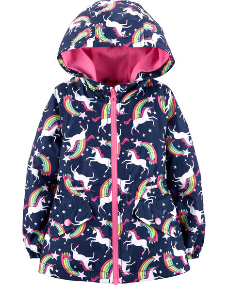 Lightweight Fleece-Lined Unicorn Jacket