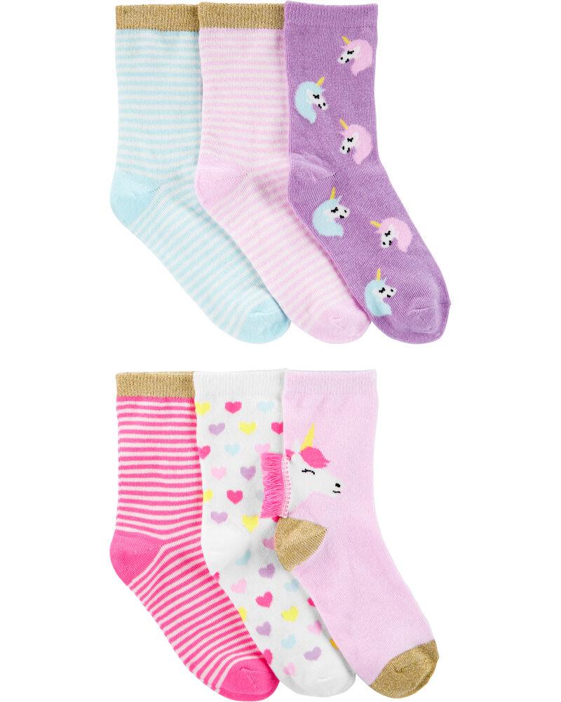 6-Pack Glitter Socks, , hi-res