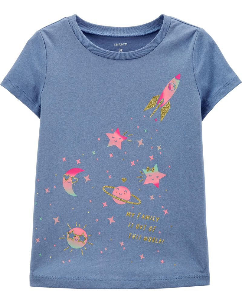 Glitter Space Jersey Tee, , hi-res