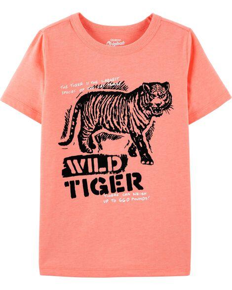 T-shirt à imprimé original avec tigre