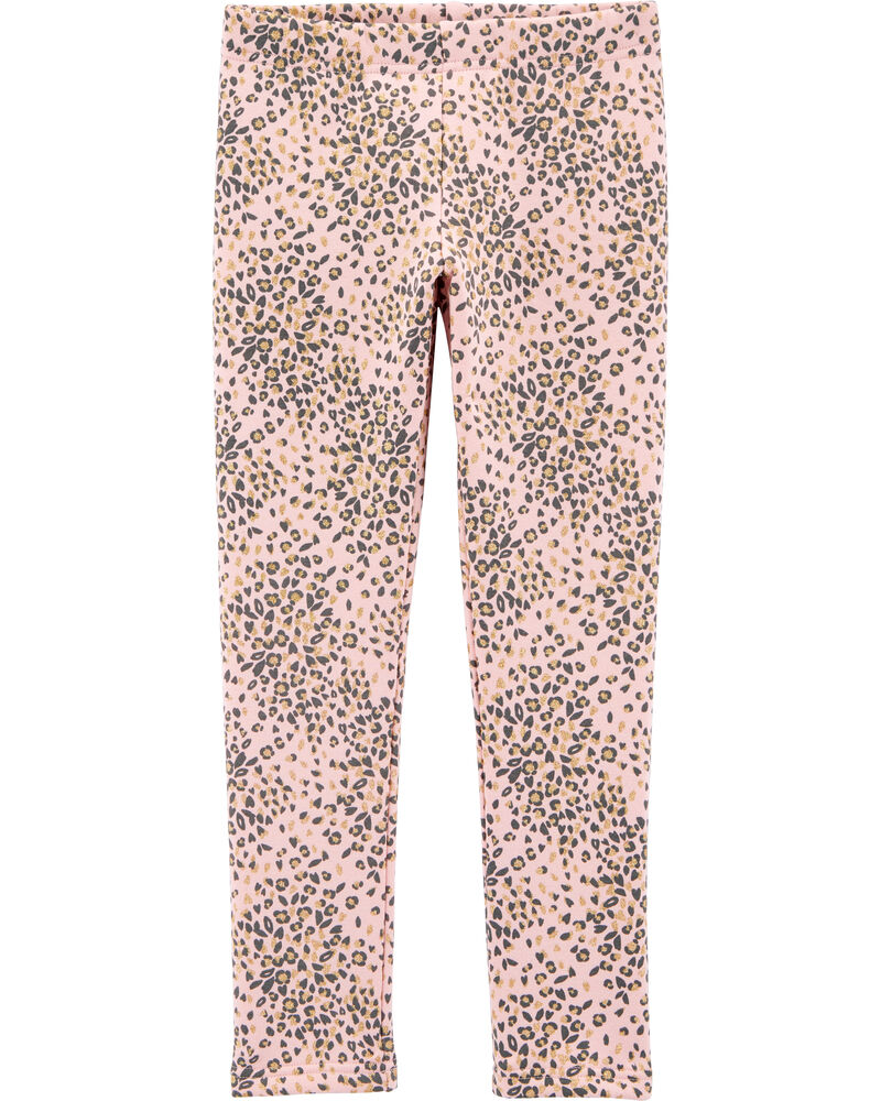 Legging en molleton douillet motif léopard, , hi-res