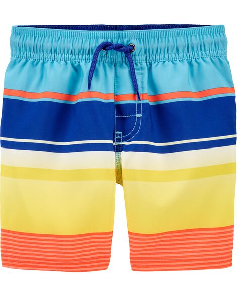 Striped Swim Trunks