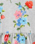 Ensemble 2 pièces chandail fleuri à basque et legging , , hi-res