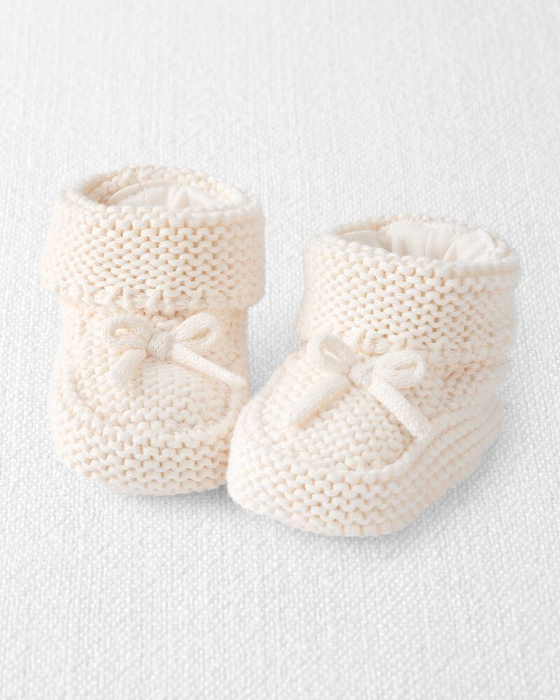 Chunky Knit Booties, , hi-res
