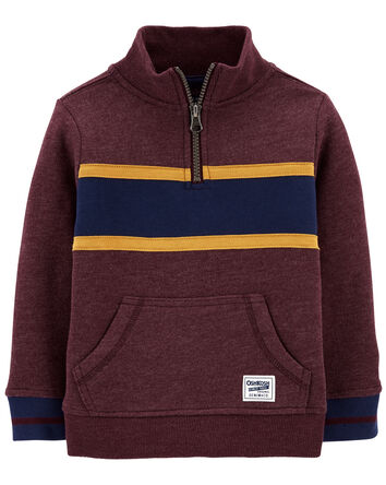 Mock Neck Logo Fleece Pullover