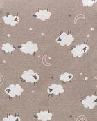 Pyjama 4 pièces en coton ajusté à motif de mouton, , hi-res