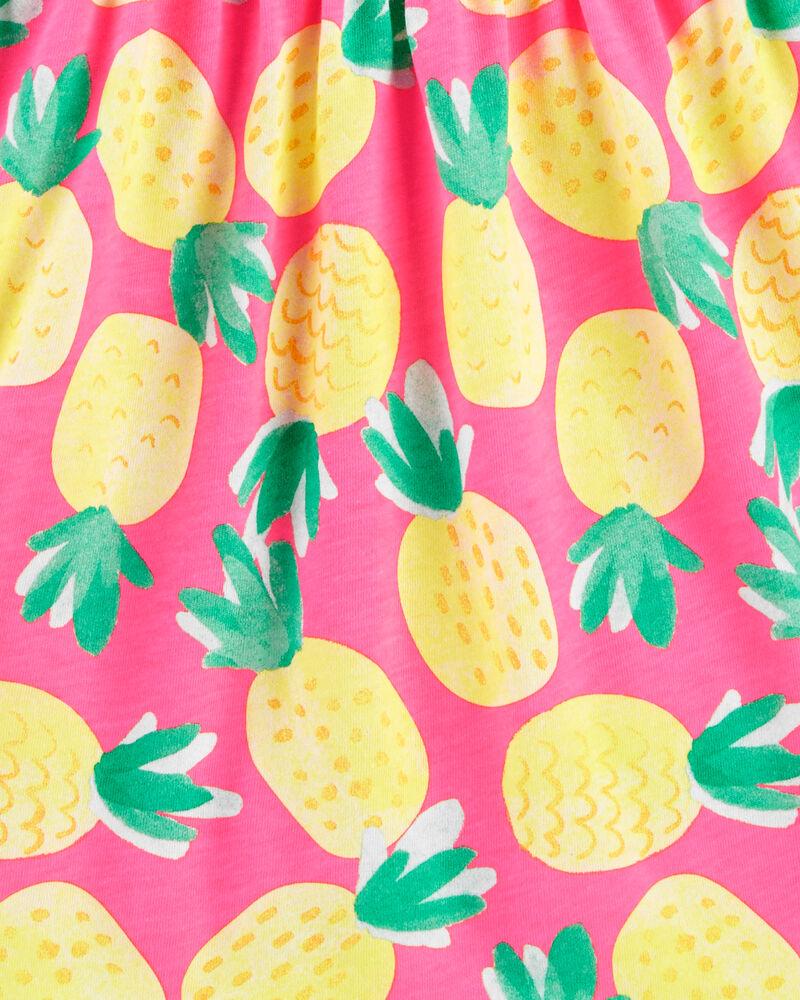 Robe débardeur en jersey volanté avec ananas, , hi-res
