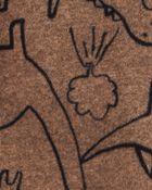 Grenouillère en molleton à boutons-pression dinosaure, , hi-res