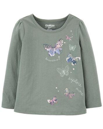 T-shirt à papillon scintillant