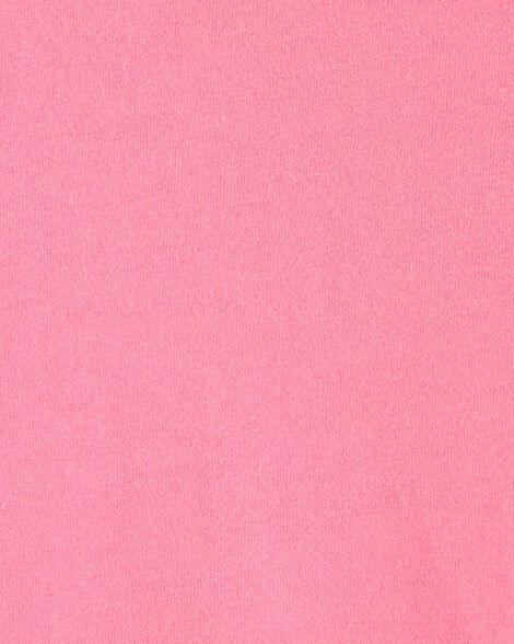 Cache-couche en jersey rose avec poche de poitrine