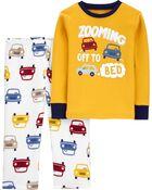 2-Piece Fleece & 100% Snug Fit Cotton PJs, , hi-res