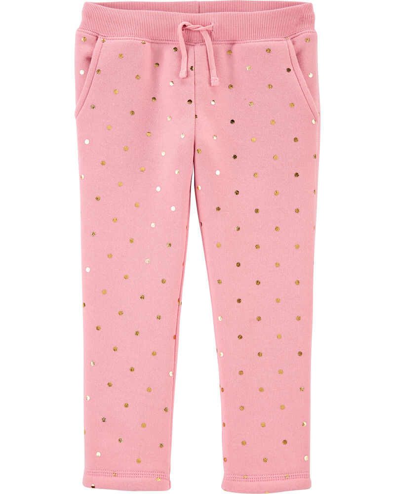Polka Dot Fleece Pants, , hi-res