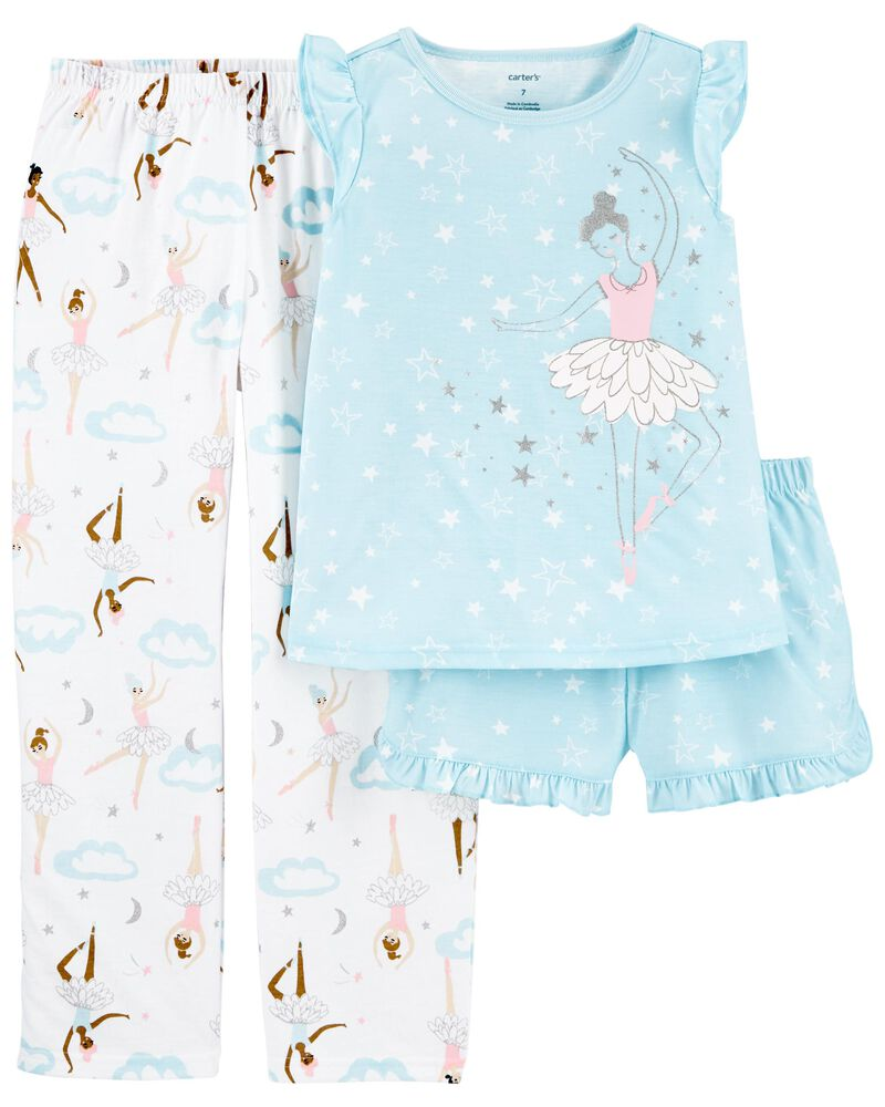 Pyjamas 3 pièces de coupe ample ballerine, , hi-res