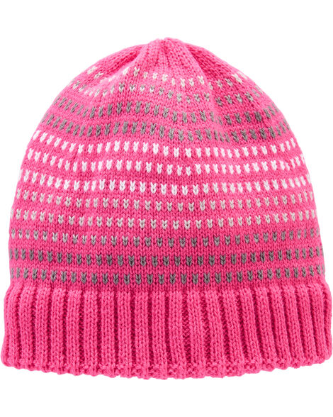 Knit Striped Winter Hat