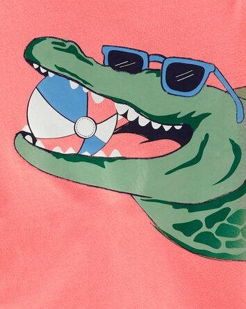 T-shirt en jersey Alligator
