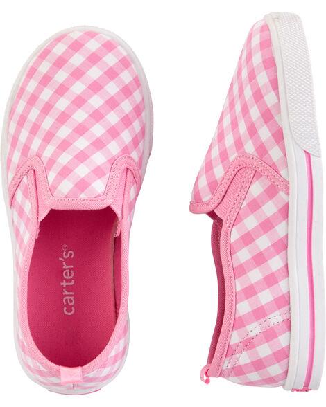 Chaussures à enfiler à motif vichy