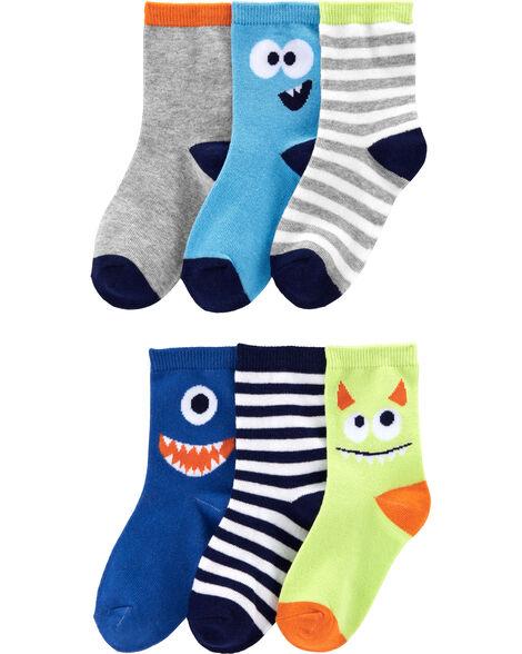 6-Pack Monster Crew Socks