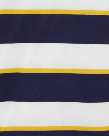 Polo à rayures en jersey