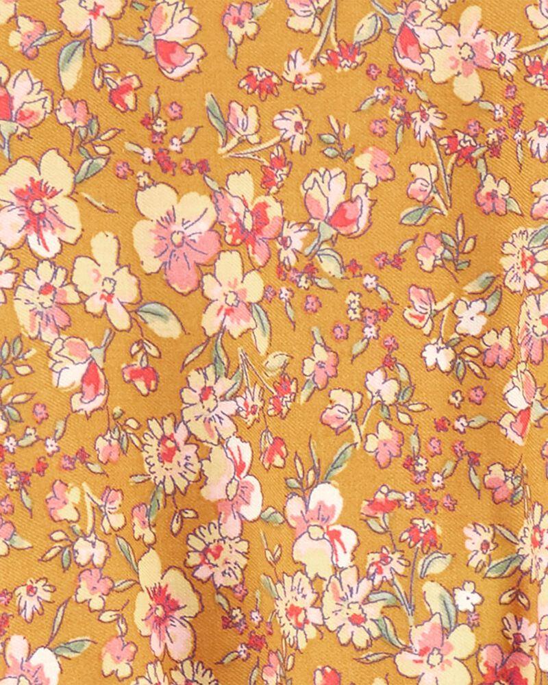 Robe froncée fleurie, , hi-res